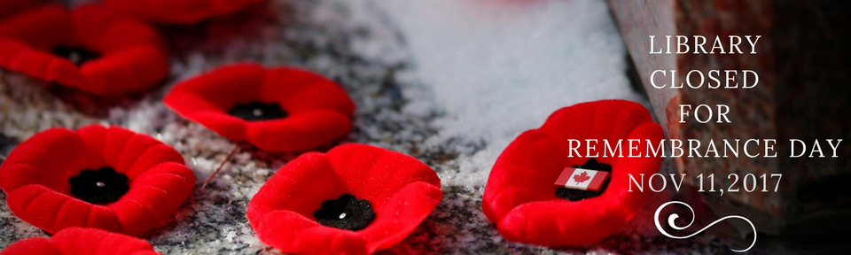 Closed for Remembrance Day
